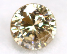 0.16Ct Natural Fancy Champagne Brilliant Round Cut Diamond BM0179