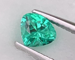 Certified Colombian Emerald AAA Grade Vivid Green Fine Luster 0.38 Cts