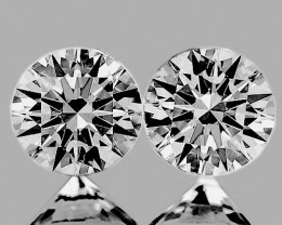 2.00 mm Round 2 pcs 0.06ct Natural White Diamond GHI VVS-VS