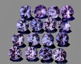 2.00 mm Round Machine Cut 20 pcs Light Purple Sapphire [VVS]