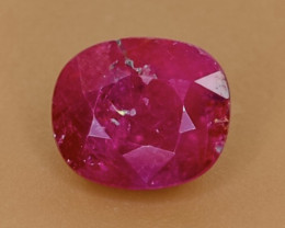 2.66 Crt Natural Ruby Faceted Gemstone.( AB 89)
