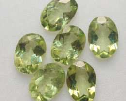 4.8 Ct Peridot Matching Lot Faceted Oval Cut 7x5mm.- Olivine Green.(SKU 425