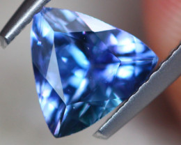 1.13Ct Natural Violet Blue Tanzanite Trillion Cut Lot LZ6892