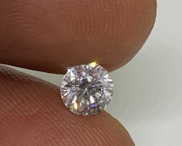 (2) Certified Nat  $1154  Fiery 0.50cts SI1  White Round Loose Diamond
