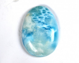 Biggest 2 inch Natural Sky Blue Larimar Oval Cabochon 51x35x8mm 30 grams