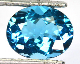 ~AWESOME~ 3.99 Cts Natural London Blue Topaz Oval Cut Brazil