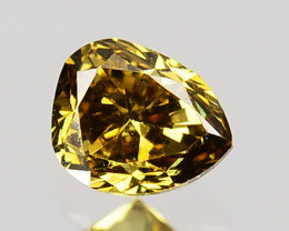 0.16 Cts Natural Untreated Diamond Fancy Yellowish Brown Pear Cut Africa