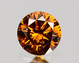 0.11 Cts Natural Untreated Diamond Imperial Brown Rund Cut Africa