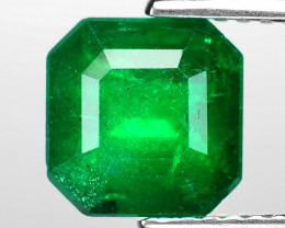 2.11 Cts Natural Vivid Green Colombian Emerald Loose Gemstone