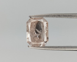 0.54 CTS , Radiant Brilliant Cut , Pink Overtone Diamond  , Natural Dia