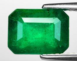 2.75 Cts Natural Vivid Green Colombian Emerald Loose Gemstone