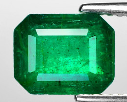 2.33 Cts Natural Vivid Green Colombian Emerald Loose Gemstone