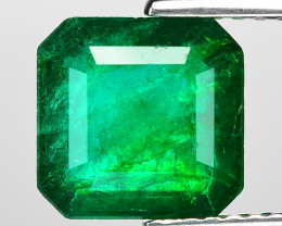 2.18 Cts Natural Vivid Green Colombian Emerald Loose Gemstone