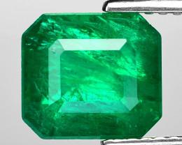 2.91 Cts Natural Vivid Green Colombian Emerald Loose Gemstone