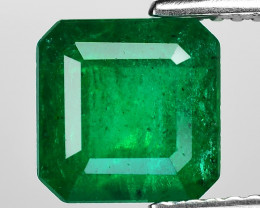 2.66 Cts Natural Vivid Green Colombian Emerald Loose Gemstone