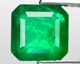 2.09 Cts Natural Vivid Green Colombian Emerald Loose Gemstone