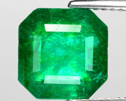 3.35 Cts GRS Certified Natural Vivid Green Colombian Emerald Loose Gemstone