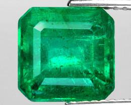 3.64 Cts Natural Vivid Green Colombian Emerald Loose Gemstone