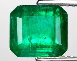 2.46 Cts Natural Vivid Green Colombian Emerald Loose Gemstone