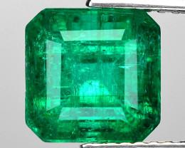 2.96 Cts Natural Vivid Green Colombian Emerald Loose Gemstone