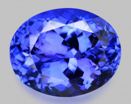 4.00 Cts AAA 10.22x6.22 rare Violet Blue Color Natural Tanzanite Gemstone