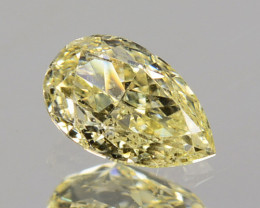 0.28Cts Natural Untreated Diamond Fancy Yellow Pear Cut Africa