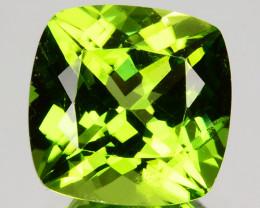 4.30 Cts Natural Peridot - Parrot Green - Cushion Cut - Burmese