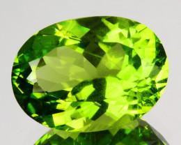 8.00 Cts Natural Peridot - Parrot Green - Oval Cut - Burmese