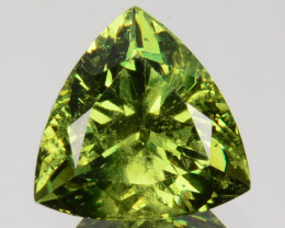 ~PRETTY~ 2.83 Cts Natural Demantoid Garnet Green Trillion Russia