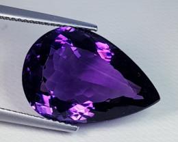 12.07 ct Top Quality Gem Stunning Pear Cut Natural Purple Amethyst