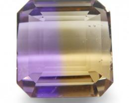 12.1 ct Square Ametrine-$1 No Reserve Auction