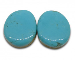 28.35 ct Oval Turquoise Pair