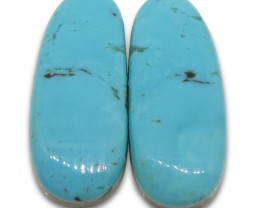22.46 ct Oval Turquoise Pair