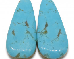 20.75 ct Pear Turquoise Pair
