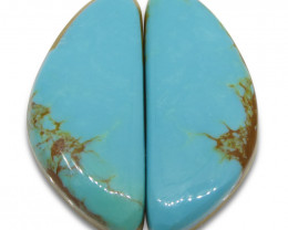 22.7 ct Triangle Turquoise Pair