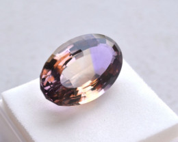 23.48 Carat Great Antique Oval Cut Ametrine