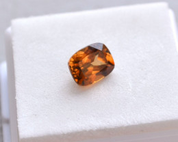 3.38 Carat Fine Cushion Cut Honey Zircon