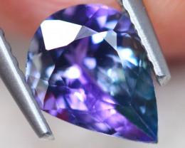 1.52ct Natural Violet Blue Tanzanite Pear Cut Lot V7617