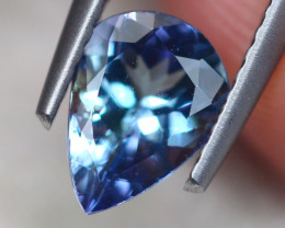 1.09ct Natural Violet Blue Tanzanite Pear Cut Lot V7577