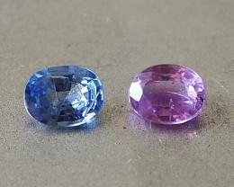 1.13ct unheated blue and purple sapphire