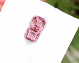 2.10 Ct Natural Pinkish Transparent Tourmaline Gems Pairs
