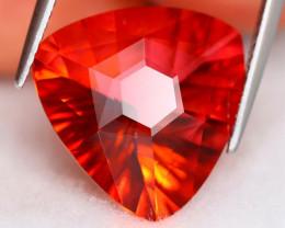Red Topaz 9.36Ct VVS Laser Cut Natural Reddish Orange Topaz A1411