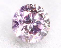 Purplish Pink Diamond 1.66mm Untreated Genuine Fancy Diamond B1402