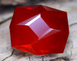 Mexican Cherry Red 3.51Ct Master Cut Natural Cherry Red Fire Opal B1419