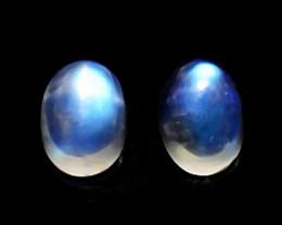 2.10 Cts Natural Royal Blue Moonstone 7x5mm Oval Cabochon Bihar-India