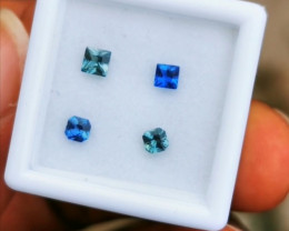Set of faceted Nigerian Sapphires