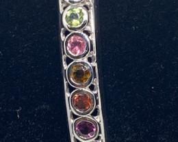 (8) Gorgeous Nat. 14.62 tcw Multi-colored Tourmaline Bangle