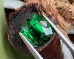 2.06 Cts Top Quality Vivid Green Natural Tsavorite Tanzania