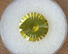11,82ct Lemon Quartz - Master cut / Cleopatra's eye!