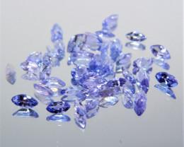 4.25 Cts 40 Pcs Amazing Rare Violet Blue Color Natural Tanzanite Gemstone L